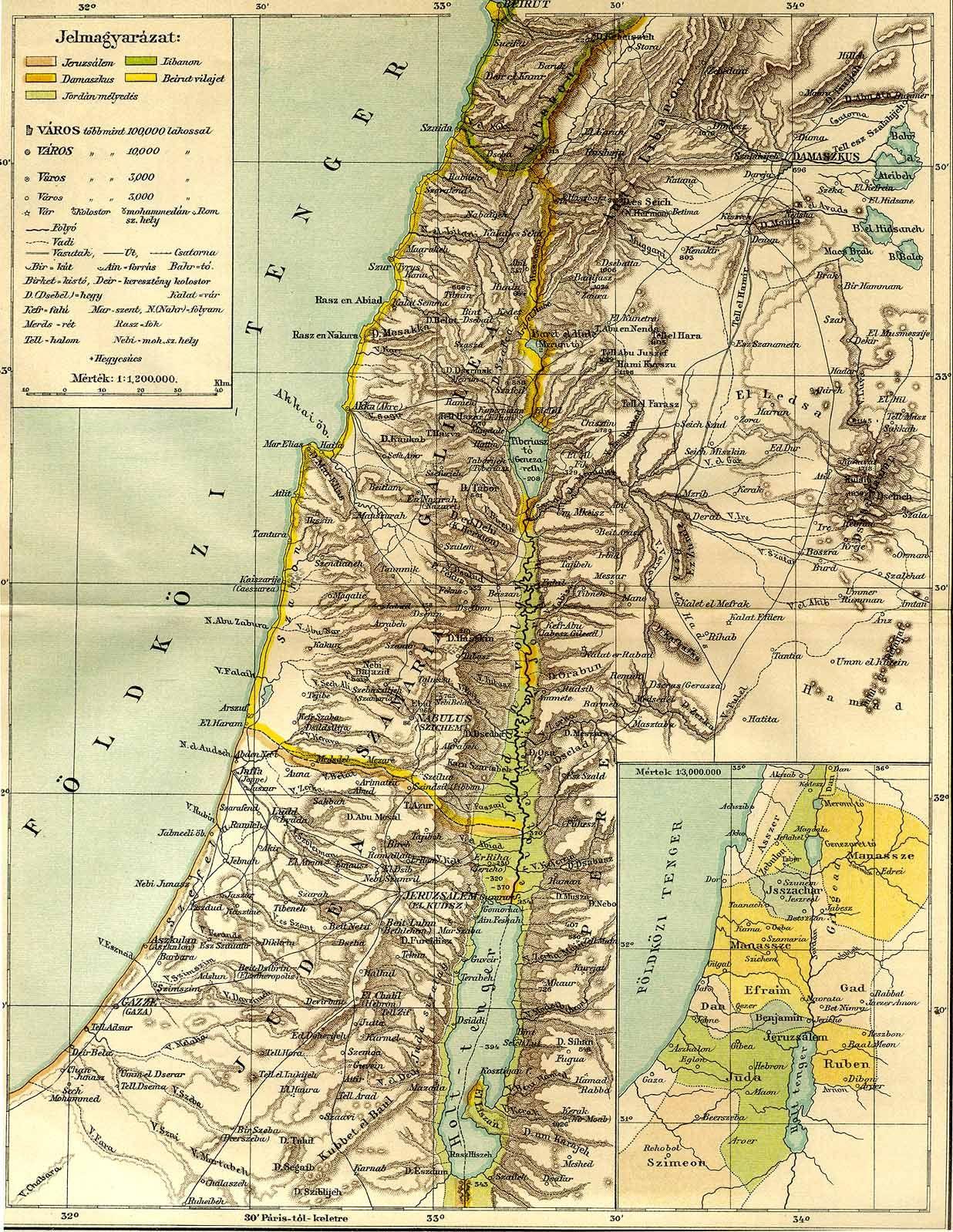 izrael térkép Izrael   Térképek