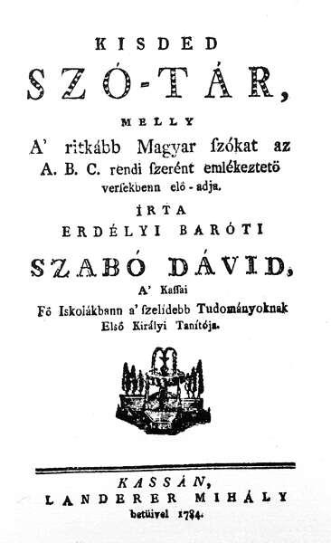 Barσti Szabσ Dαvid: Kisded szσ-tαr 1.