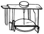 Forgó tengelyű korong ülőpaddal (Hódmezővásárhely, Csongrád m.)