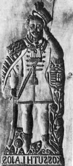 Mézeskalács-ütőfa Kossuth Lajos alakjával