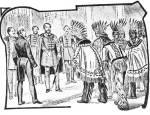 Kossuth Lajos indián küldöttséget fogad az Egyesült Államokban