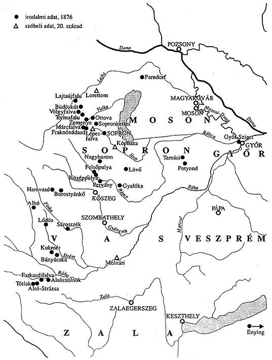 térkép nyugat magyarország Magyar Néprajz II. Gazdálkodás / BAROMFITARTÁS térkép nyugat magyarország