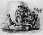 14. Cigánymuzsikusok. Perlaszka metszete Barabás Miklós rajza (1840-es évek) után (MNM)