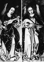 2. Zenélő angyalok hegedűvel és lanttal. Csegöldi (Szabolcs-Szatmár) oltárkép, 1494