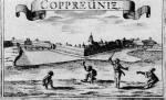 27. Hajdútánc Kapronca vára előterében. A. E. Burckhardt von Birckenstein metszetkönyvéből, 1686 (MNM)
