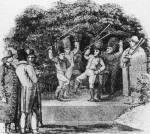 32. Pásztortánc a keszthelyi Georgikon gyepszínpadán. R. Bright rajza, 1818 (Bright, R.: