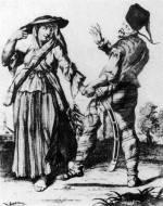34. Pandúr tánca a szeretőjével. M. Engelbrecht rézmetszet-sorozatából, 1743–1750 (MNM)