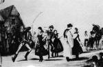 45. Verbuválás az Alföldön, 19. század közepe. Ismeretlen festő műve után készült olajlenyomat (Martin György: