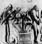 7. Cimbalmos és hegedűsök egy edény oldaláról, 19. század eleje. Zolnay Lajos felvétele