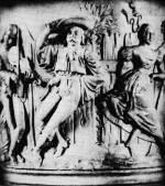 8. Hegedűs és táncosok egy edény oldaláról, 19. század eleje. Zolnay Lajos felvétele