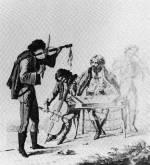 9. Muzsikáló cigánybanda. Bikkessy-Heinbucher József metszete, 1800 körül (MNM)