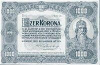 1000 koronás államjegy, 1920