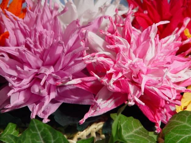 МК квітів із паперу