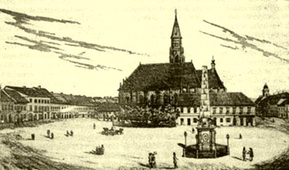 1840. Dohány utca, Wesselényi utca, Síp utca találkozása