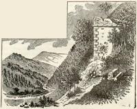 Kővári vár romja az 1860-as években.